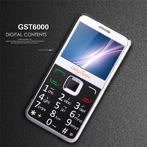 Daxian GST6000 Russian keyboard Dual SIM card Big Keyboard Mobile Phone FM Flashlight Bluetooth Old Man Senior phone GST3000(China (Mainland))