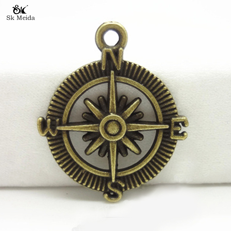 10PCS Retro Ancient Bronze Metal Used In Jewelery Compass Connector Supplies DIY Jewelry Accessories Wholesale 29MM TK-31(China (Mainland))