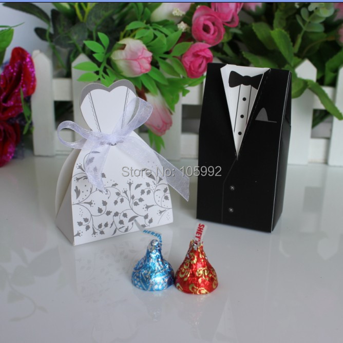 100pcs Bride and Groom box Wedding Favor Boxes Gift box Candy box-in ...