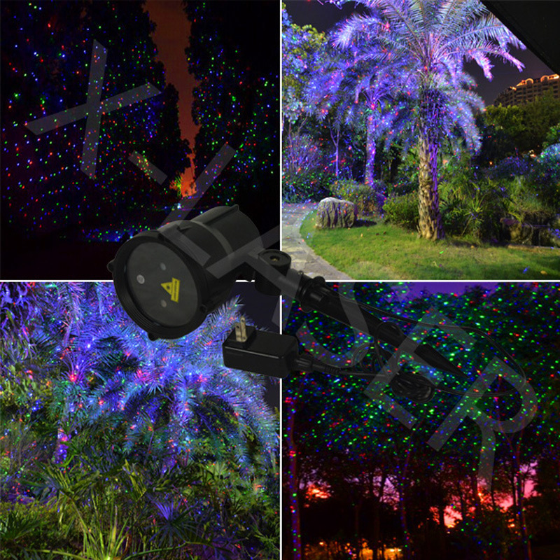 dynamic rgb garden outdoor laser garden christmas holiday waterproof