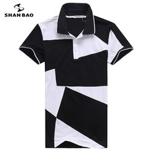 Buy Men's business casual cotton polo shirt 2017 summer high black white stitching short sleeve POLO large size M 6XL for $32.00 in AliExpress store