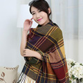 New Unisex Men Women Classic Plaid Lengthen Thick Cashmere Warm Scarf Female Pashmina Cappa Shawl