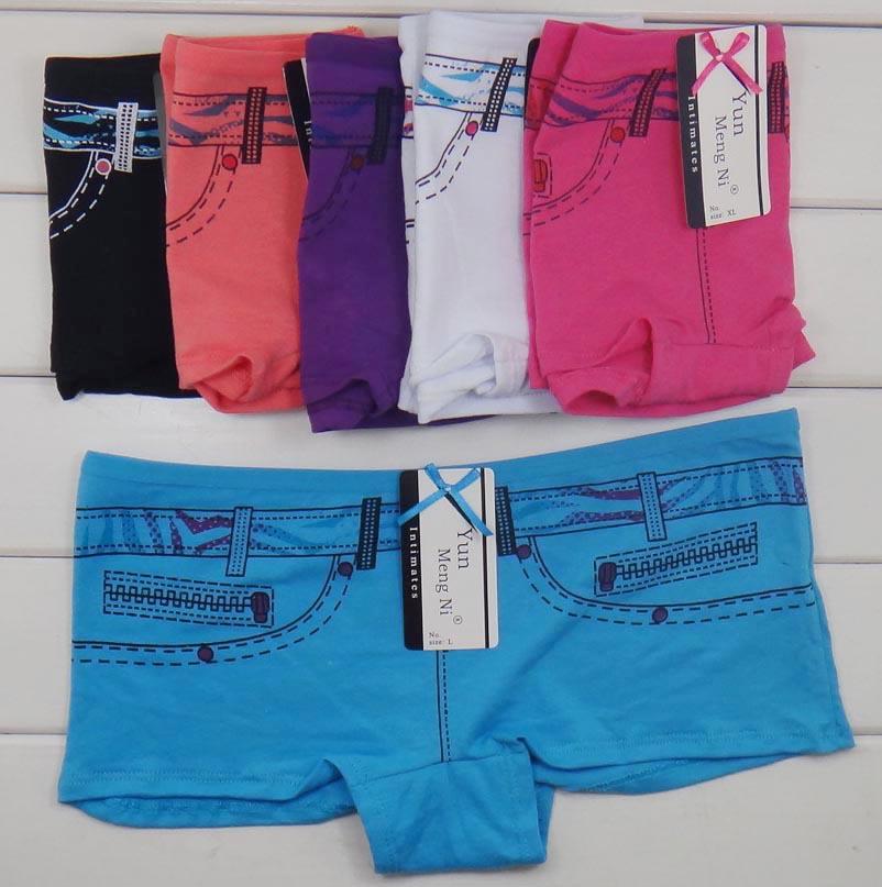 86862 New Arrival Jean Printed Comfort Underwear Womens Boyshorts Underwear
