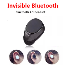 Super Mini stereo invisible bluetooth headset wireless V4.1 handfree Smallest bluetooth earphone headphone for Samsung all phone
