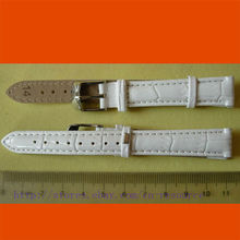 1 x 14mm GENUINE COW LEATHER watch band white 05