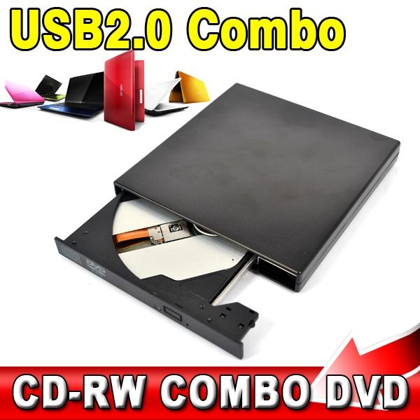USB 2.0 Portable External Slim Optical Drive COMBO DVD-ROM / CD-ROM Burner Record SATA chip CD DVD Combo Writer(China (Mainland))