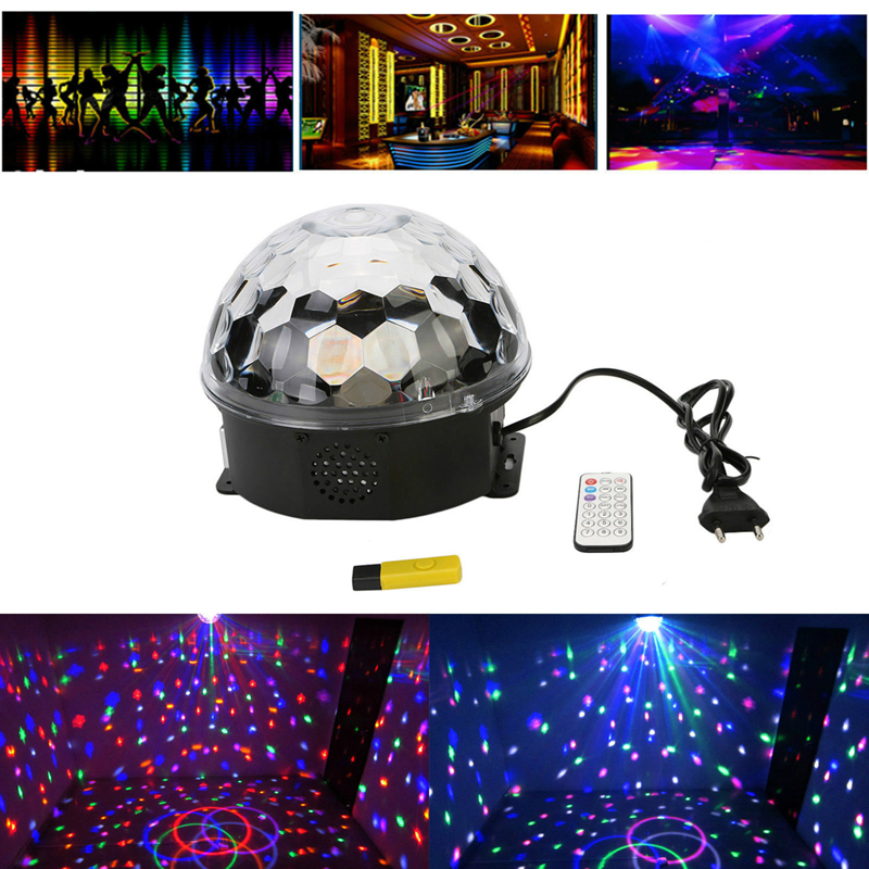 High Quality Magic Crystal Ball RGB MP3 Player DJ Disco Stage Lights Lighting Effect Light  FEN#<br><br>Aliexpress