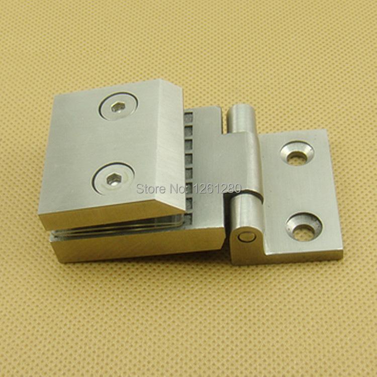 free shipping Stainless steel door hinge bathroom glass clip door hinge thickened glass door hinge household hardware clamp(China (Mainland))