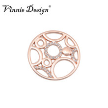 Vinnie Design Jewelry 25mm Small Crystal Coin Disc fit for 25mm Coin Holder Frame Pendant(China (Mainland))