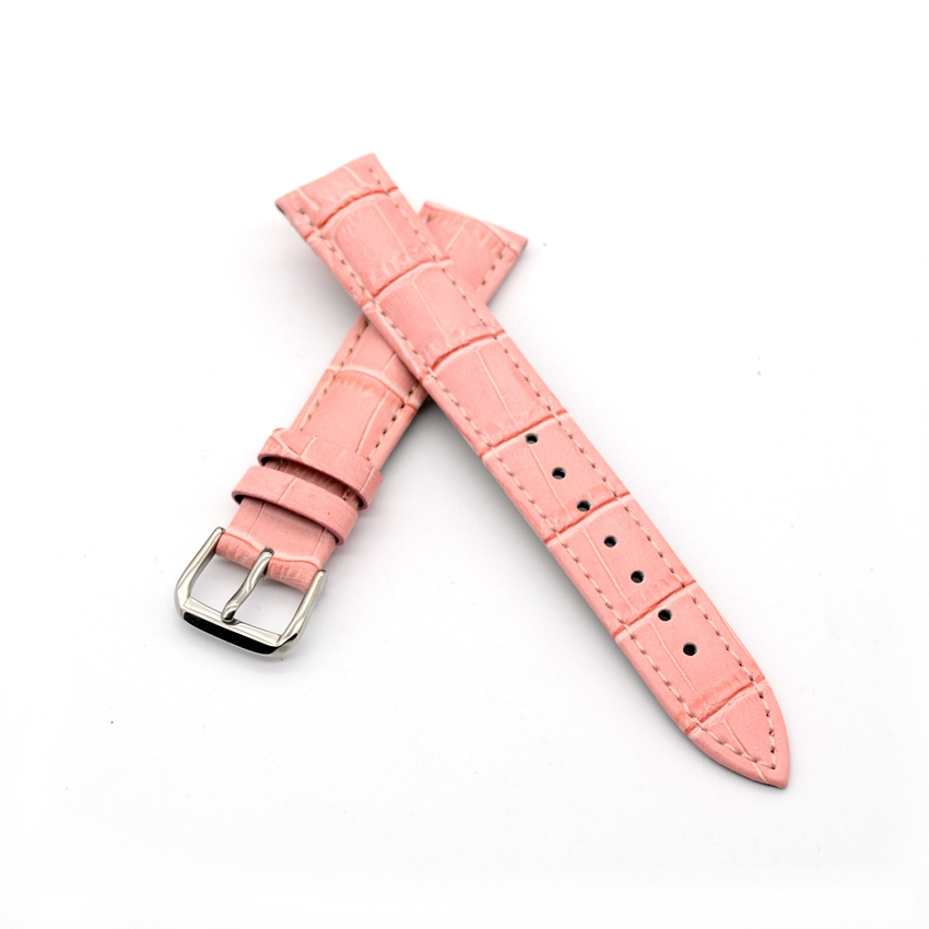 Genuine Leather women watch band pin buckle Bracelet  pink Watch Band for women  size 12 14 16 18 20 22 mm free shipping<br><br>Aliexpress