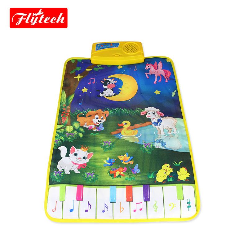 FT2301 37.5x62cm Musical Play Mat Animals Sounds Piano Mat/Baby Musical Play Mat/Developing Mat Educational Toys For Children(China (Mainland))