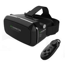 Shinecon vr realtà virtuale occhiali 3d auricolare oculus rift testa mount movie game 3.5-6.0 pollice phone + bluetooth telecomando(China (Mainland))