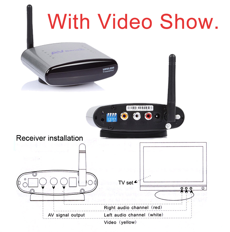HD!! PAT-330 2.4GHz Wireless AV TV Audio Video Sender HDMI Transmitter Receiver for DVD DVR STB IPTV 150M(China (Mainland))