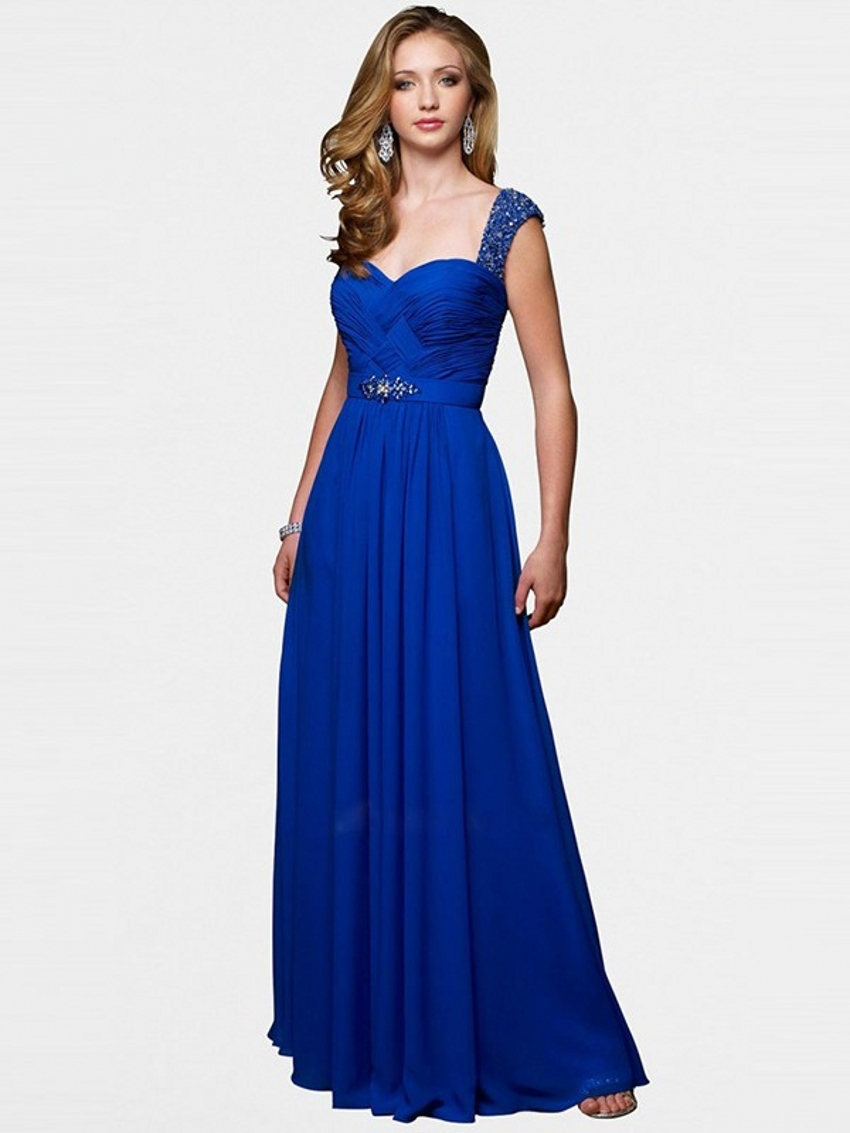 Cheap long royal blue evening dresses formal dresses party for Dresses for afternoon wedding