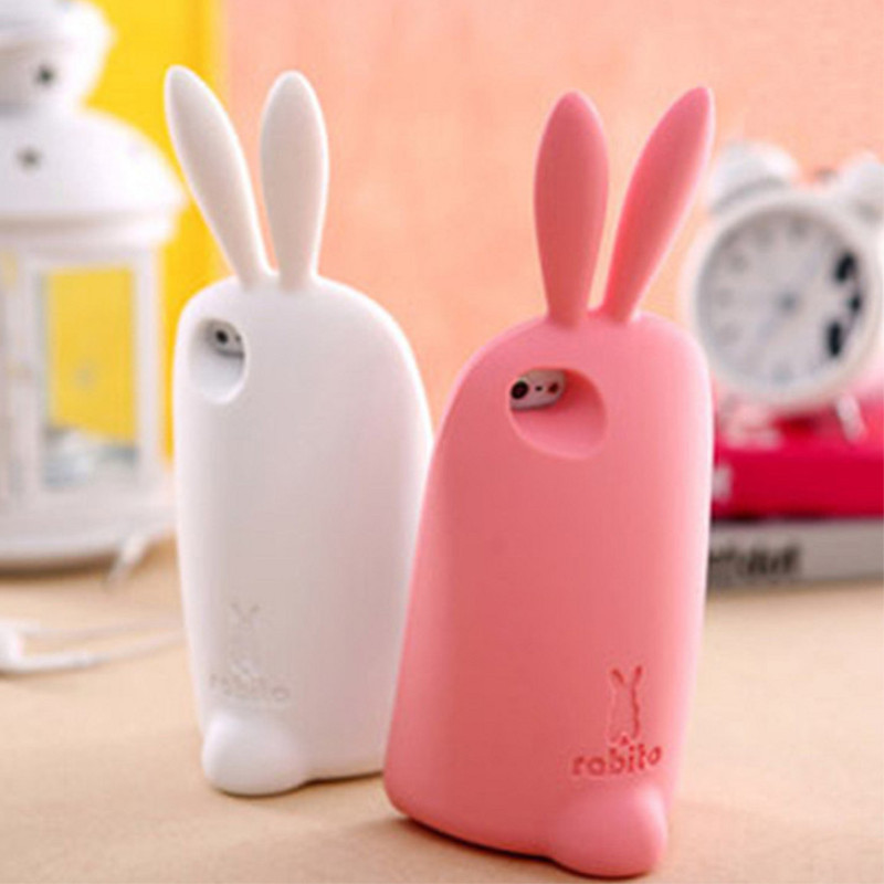Rabbit Case Long Ear 3D Cute Silicon Bunny Soft Skin Lovely Protective Cover iPhone 5 - Shenzhen Gedson Trading Co.,Ltd store