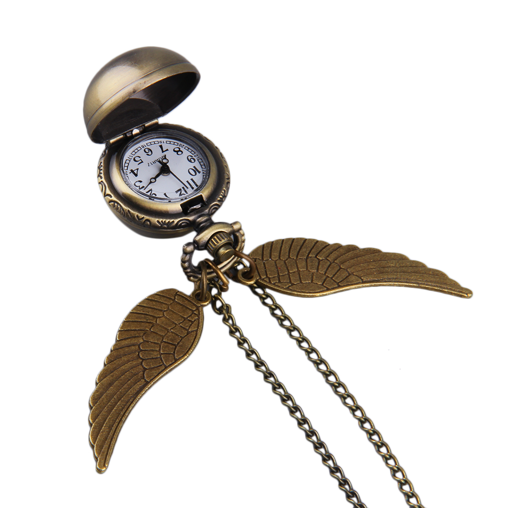 Vintage Classical Angel Wings Swings Round Ball Sweater Chain Pocket Watch Pendant Necklace Watch Special Hot Selling(China (Mainland))