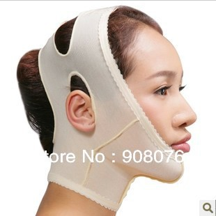 Best selling! Medical fabric face shaping massage belt enhance double jaw potent tool face mask Free shipping(China (Mainland))