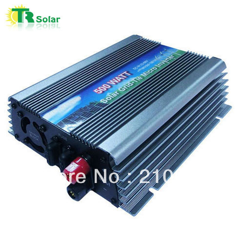 500W Gird Tie Pure Sine Wave Wide Voltage Micro Solar Inverter Matched with the 36-48V solar panel for Home Using Free Shipping