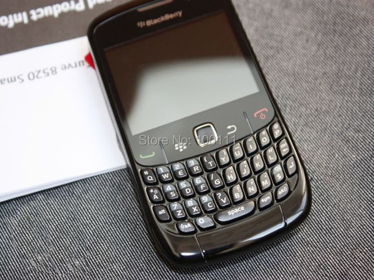 (black ) Original BlackBerry Curve 8520 smart phone with WIFI QWERTY Keyboard Free DHL-EMS Shipping(Hong Kong)