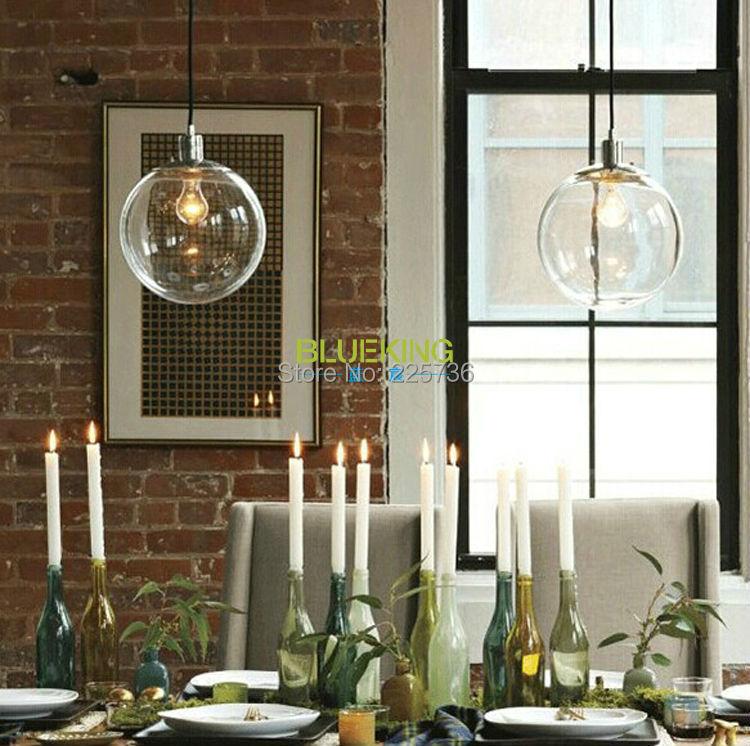 Dining room chandelier modern minimalist restaurant  : Dining room chandelier modern minimalist restaurant barlighting fixtures transparent spherical glass ball clear light chandelier from www.aliexpress.com size 750 x 746 jpeg 111kB