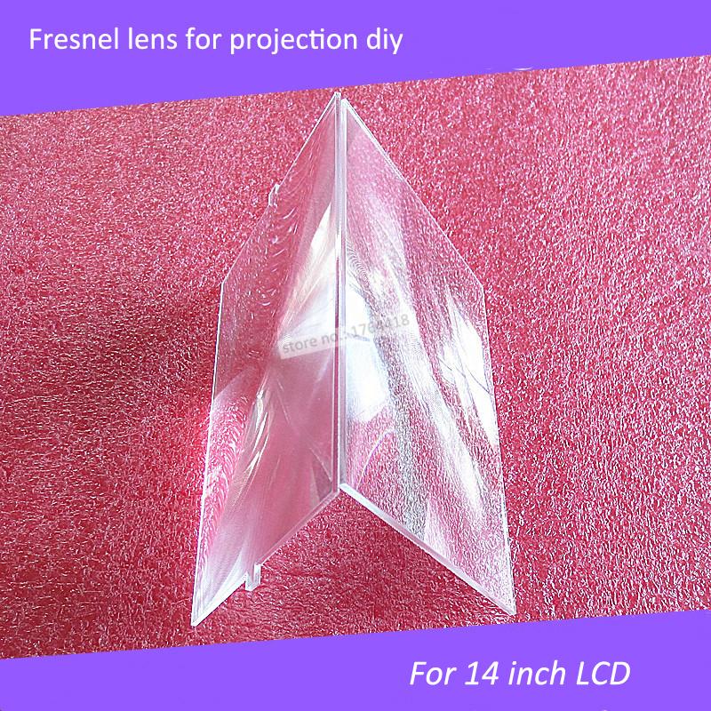 2 pcs/lot prefessional projection DIY fresnel lens 12 inch focal length 320mm projector diy lens dimension 298*240mm
