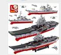 Sluban M38 B0388 Aircraft Carrier Military Ship Building Block Brick Flattop Navigation Kids Toys Christmas Gifts