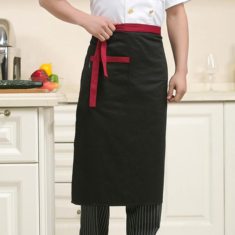Shipping Restaurant Chef Hotel Uniforms Custom Body Apron Body Half Black Kitchen Apron Three Optional Colors(China (Mainland))