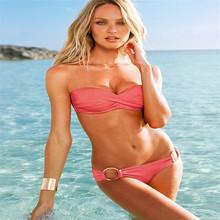 trikinis 2016 solid sexy secret swimsuit trikinis plavky bikini Swimwear maillot de bain women triangle bikini