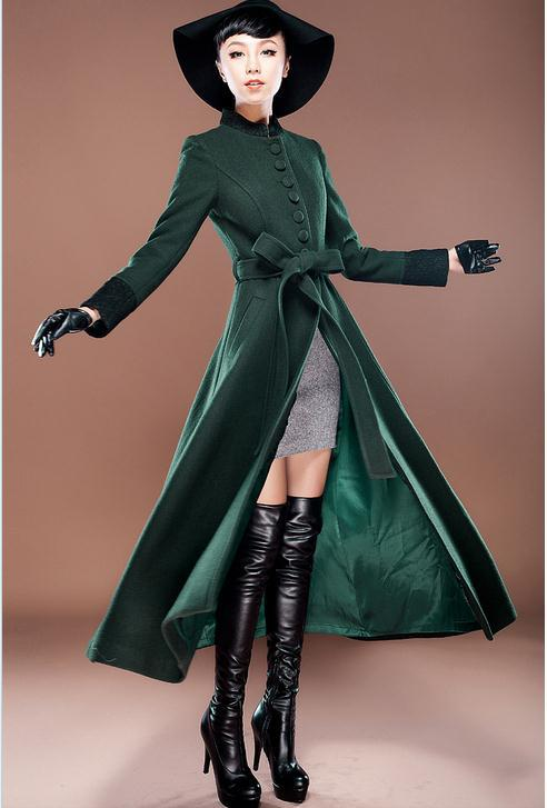 High quality 2014 new autumn and winter Ultra long wool coat slim women cashmere woolen overcoat fashion outerwear Одежда и ак�е��уары<br><br><br>Aliexpress