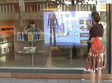 2 points touch film side Tail 52 inch dual lcd interactive touch foil Film through glass window shop(China (Mainland))