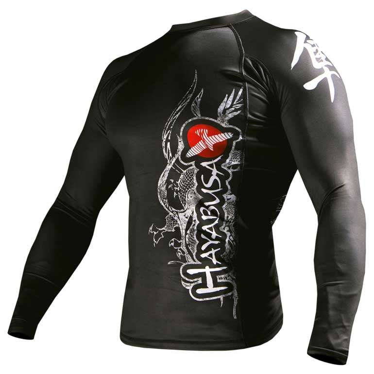You can wear rash guard shirts alone or underneath wet and dry suits. These activewear apparel pieces usually feature lightweight, flexible, and durable synthetic fibers that are also quick drying. Look for suitable and comfortable materials when shopping for men's rash guard shirts, such as nylon-spandex, neoprene, and polyester.