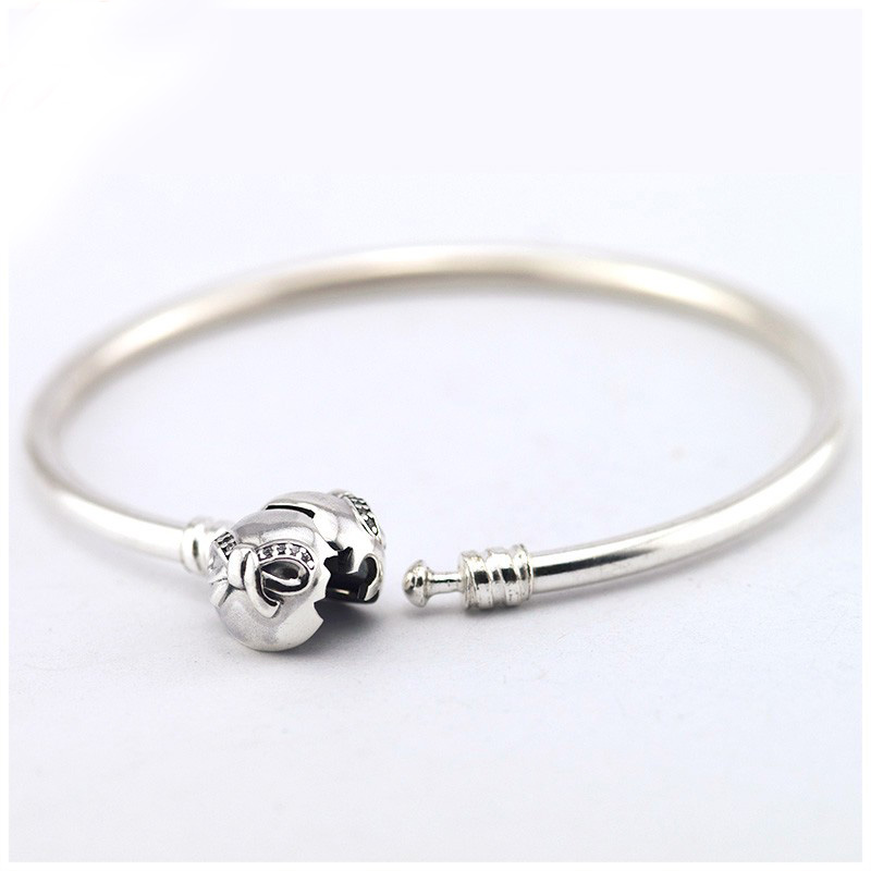 Compatible with Pandora Jewelry Daity Bow Clap Charms Bracelets With Clear CZ 100% 925 Sterling Silver Jewelry  DIY Fashion <br><br>Aliexpress