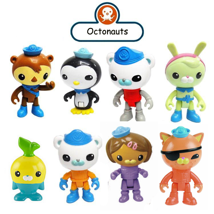 Octonauts action figures - get the crew here! child Toys 6-8cm(China (Mainland))