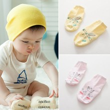 Toddler Soft Infant Socks Cute Cartoon Skid Resistance Cotton Blend Casual Baby Socks 0 4Y