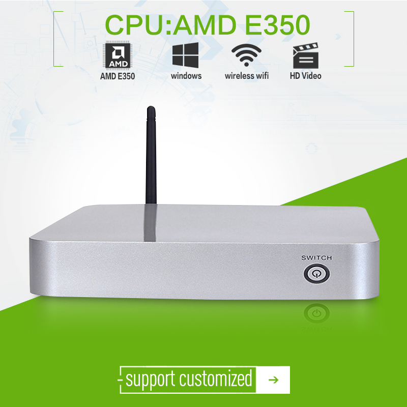 XCY L-19X E350 dual-core 1.6ghz with 4g ram 128g ssd HDMI+VGA samll and thin client mini pc for office computer with wifi htpc(China (Mainland))