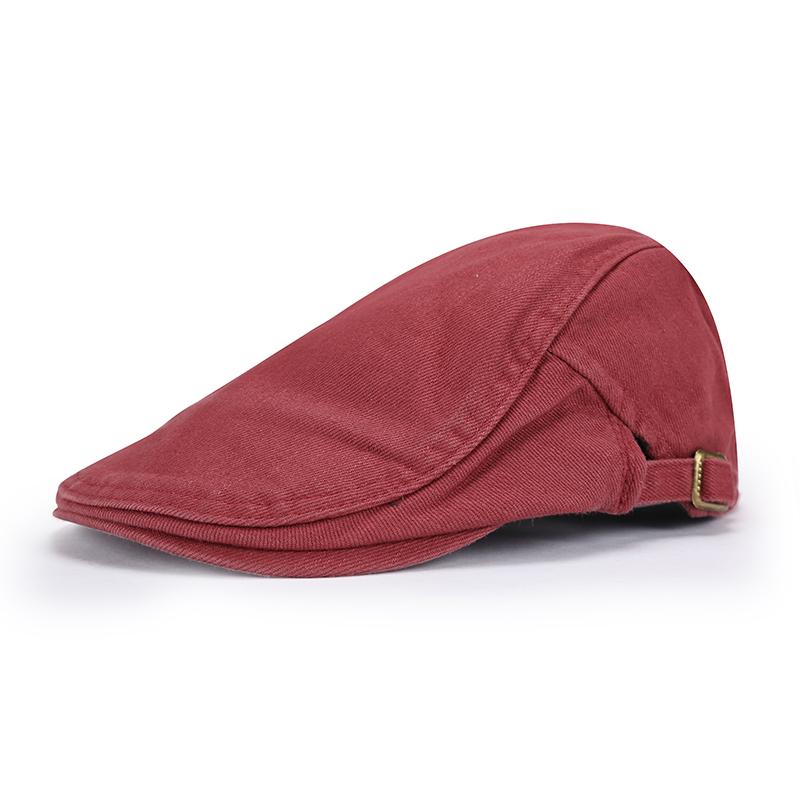 New Arrival Cotton Red Beret Men Gorras Planas Cap Boinas Masculinas Flat Caps Men's Hats(China (Mainland))
