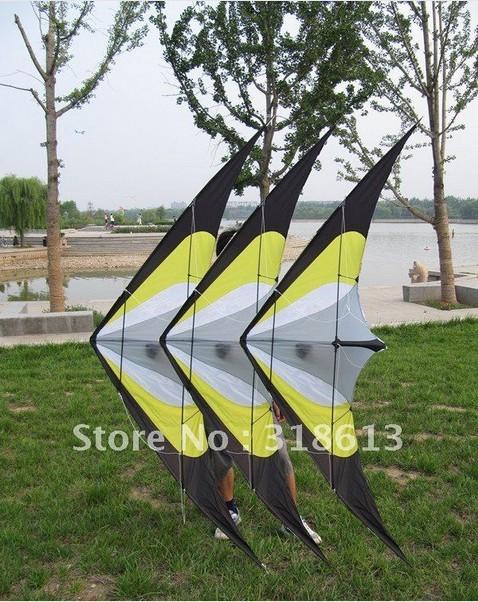 Free shipping 230*90CM Stunt kite,Triangle Nylon Kite