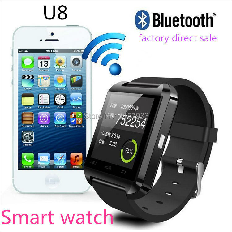 cheapest Smartwatch Bluetooth Smart Watch U8 WristWatch digital sport watch for Android Samsung phone Wearable Electronic Device(China (Mainland))