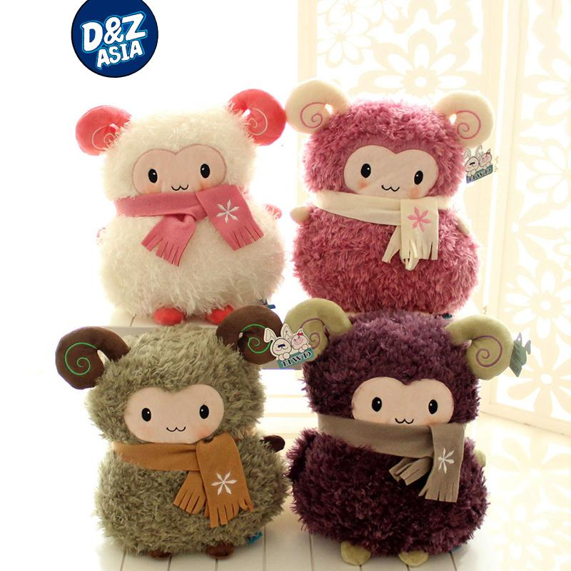 Hand warmer sheep plush dolls 35cm cute sheep gift for boys and girls doll & hand warmer two functions(China (Mainland))
