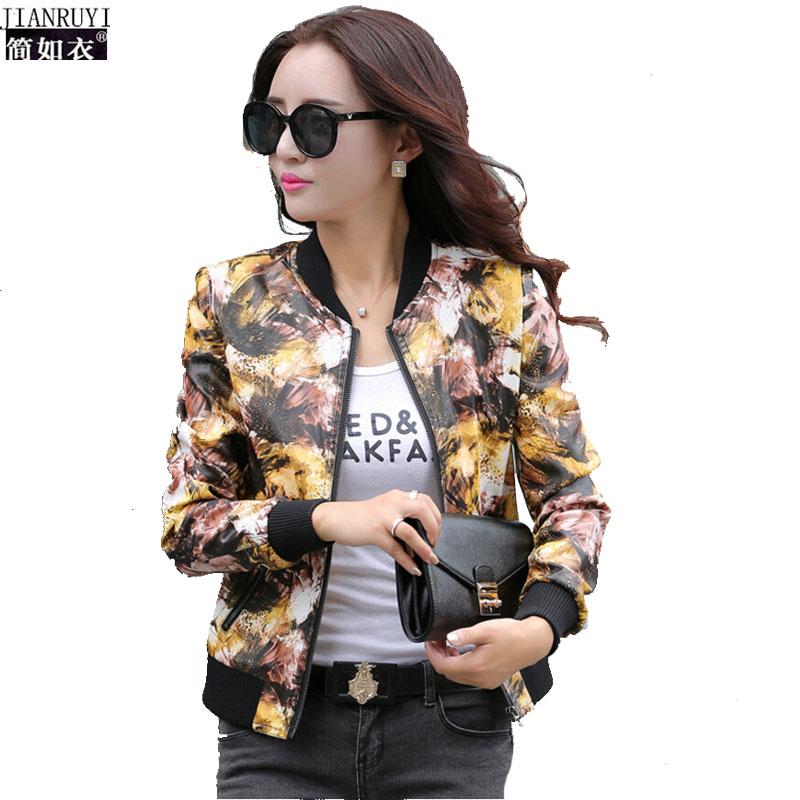 M-4XL Female leather Coat 2016 Spring Handsome Short PU Printing leather jacket Korean Slim Popular Motorcycle jacket Big Size Одежда и ак�е��уары<br><br><br>Aliexpress