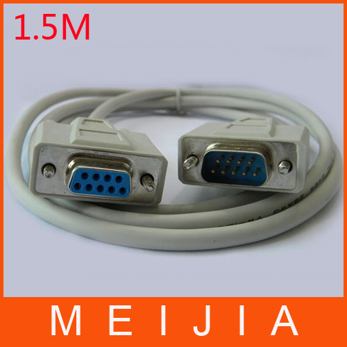 wholesale 30pcs/lot 1.5m DB9 Female/Male Serial Null Modem Cable F/M RS232(China (Mainland))