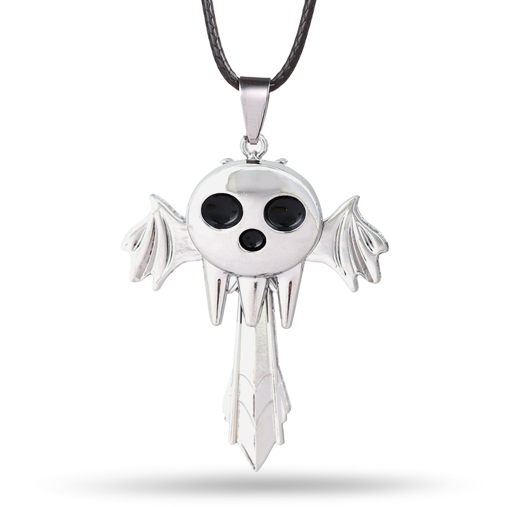 HSIC Anime Soul Eater Death The Kid Necklace Inspired Pendant Anime Cosplay Accessories Gift(China (Mainland))