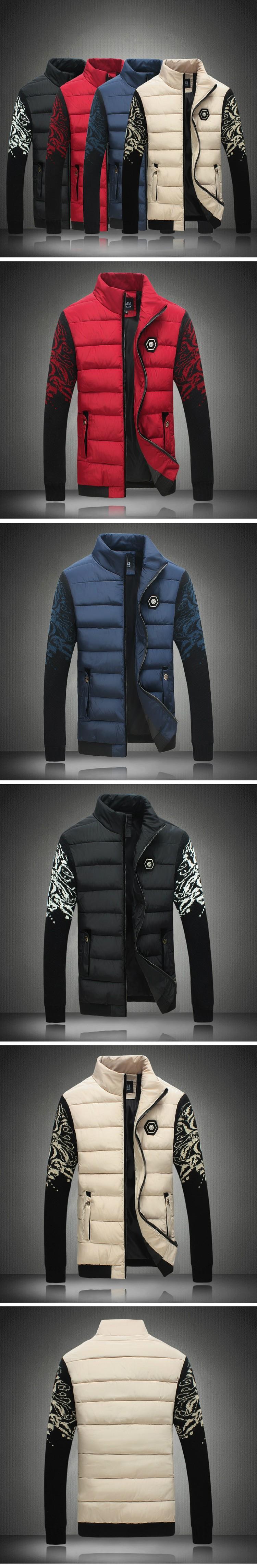 Скидки на 2016 осенью и зимой мужская мода хлопка ватник Мужчины цветок цвет куртки хлопка Бесплатная доставка MY106