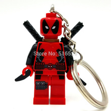 Deadpool Super Hero Minifigures Keychain For Keys Custom Ring Keychains DIY Handmade Key Chain Building Blocks Toys(China (Mainland))