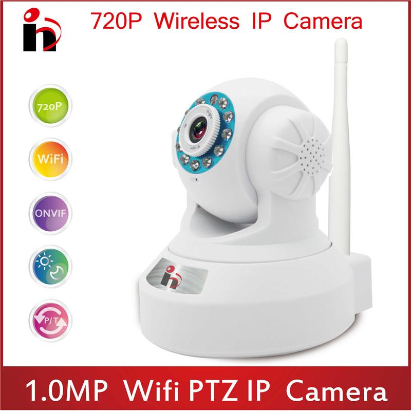 HY630 promotion hd 720P ip Camara Wifi p2p Home Security Night Vision Onvif Indoor IR Camera audio PTZ Wireless Motion Detection(China (Mainland))