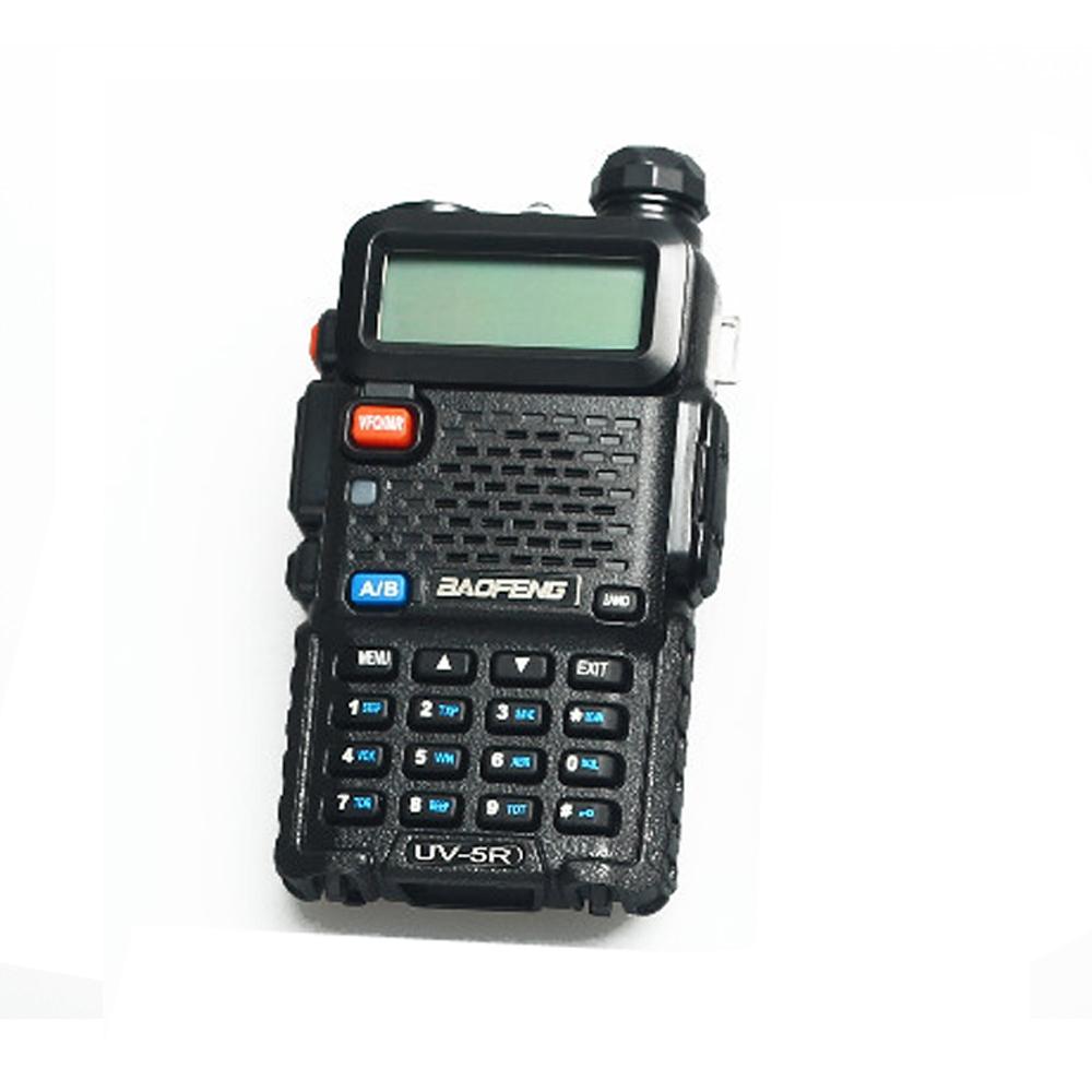 Горячая уф-5r портативный портативной рации двухстороннее радио 5 Вт 5 км - 10 км укв / двухдиапазонный черный ( без аккумулятор / зарядное устройство / наушники )