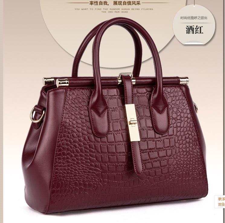 Fashion New Colorful Genuine Leather Handbag Women Bag Fashion Tote Messenger<br><br>Aliexpress