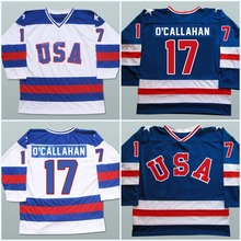 17 Jack O'callahan 1980 USA Hockey Jersey Olympic,Stitched 1980 Miracle On Ice Hockey Jersey,Navy/White S-3XL Free Shipping(China (Mainland))