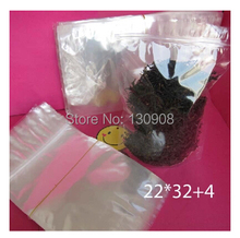 High quality frozen food/seafood plastic stand up bag 22*32+4cm Free Shipping(China (Mainland))