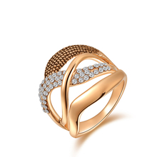 Fashion Rings gold plated, anillos ,wedding rings, Austrian crystal Environmental Micro-Inserted Jewelry R150040207R(China (Mainland))